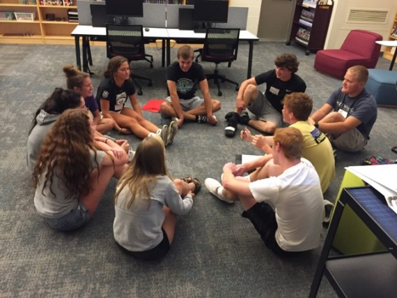 MHS student mentors train for freshman orientation & the start of a new school year
