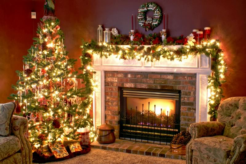 Christmas Decorated Houses Home Decorating Ideas Interior Design