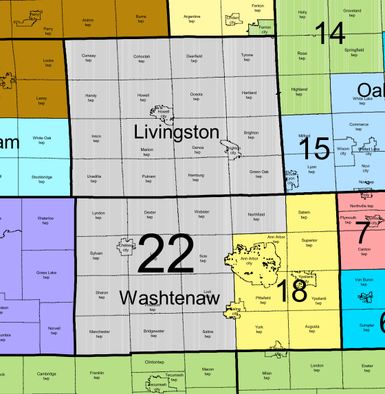 The NEW 22nd State Senate District as of the 2011 Reapportionment.