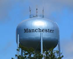 The Manchester Water Tower Serves as the Current Transmission Point for Local Wireless Internet Service from Air Advantage.