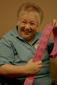 Kiwanis member Sharon Jones will gladly sell you some tickets for a special drawing at the Crazy Cash Night!