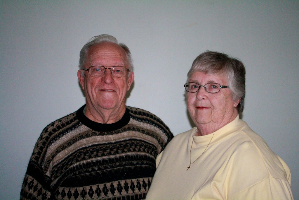 2014 Grand Marshalls of the Manchester Community Fair. Webb D. and Evelyn Seegert. Photo provided by Rebecca Harvey