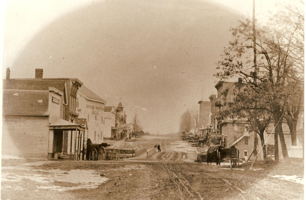 Figure 3 - Downtown Manchester - 1868