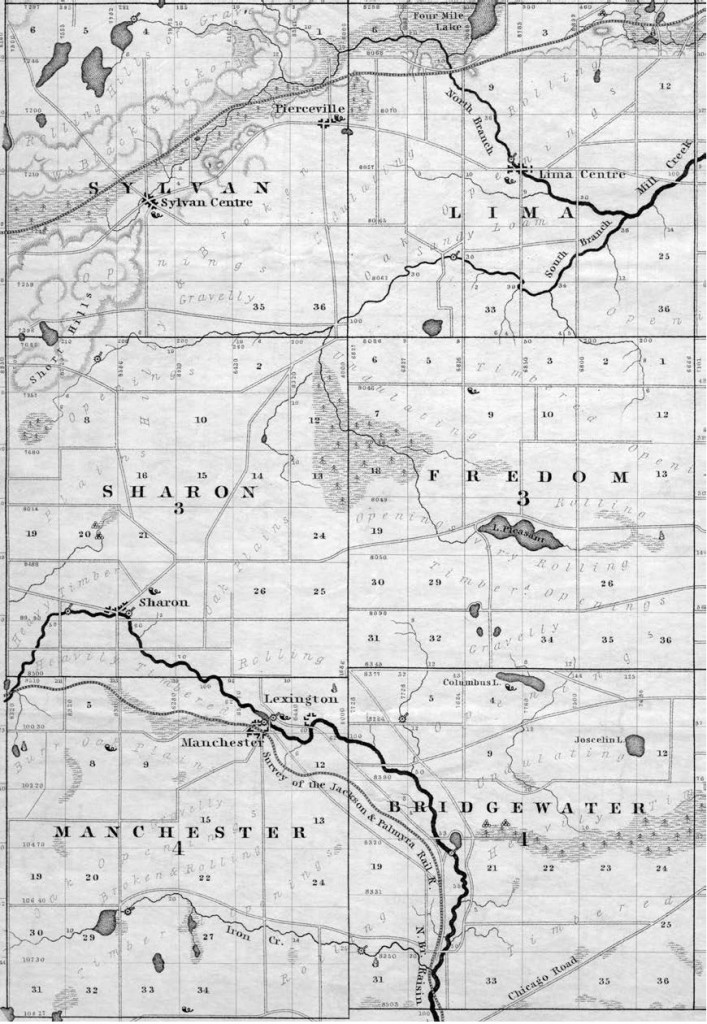 Figure 1 - Manchester and Lexington - Map
