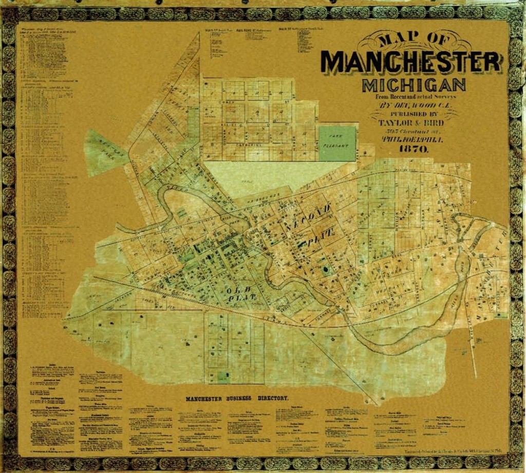 Figure 9 – Low-Resolution Image of 1870 Taylor & Bird Map of Manchester