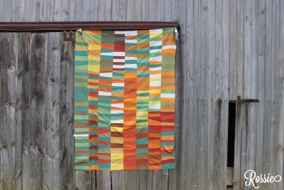 "An ""autumn quilt"" that Rossie Hutchinson created is an example of her modern quilting style."