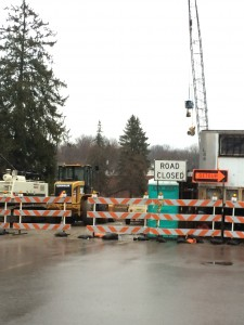 Construction work on the Main Street Bridge has been able to continue throughout the winter months due to mild weather conditions.