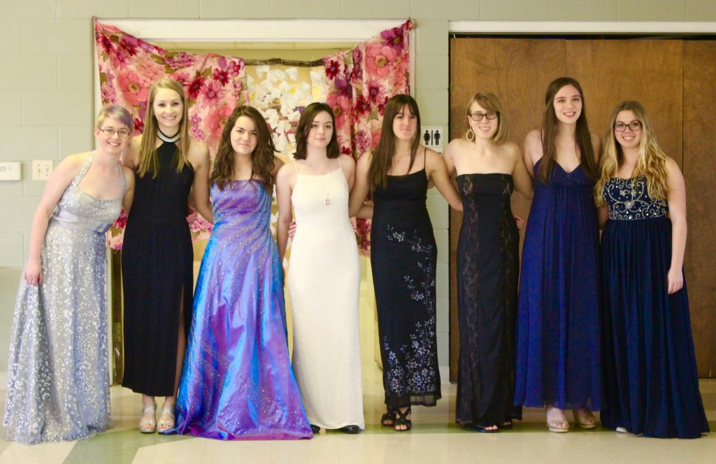 Prom Dresses Modeled In Anticipation Of Free Prom Dress Boutique