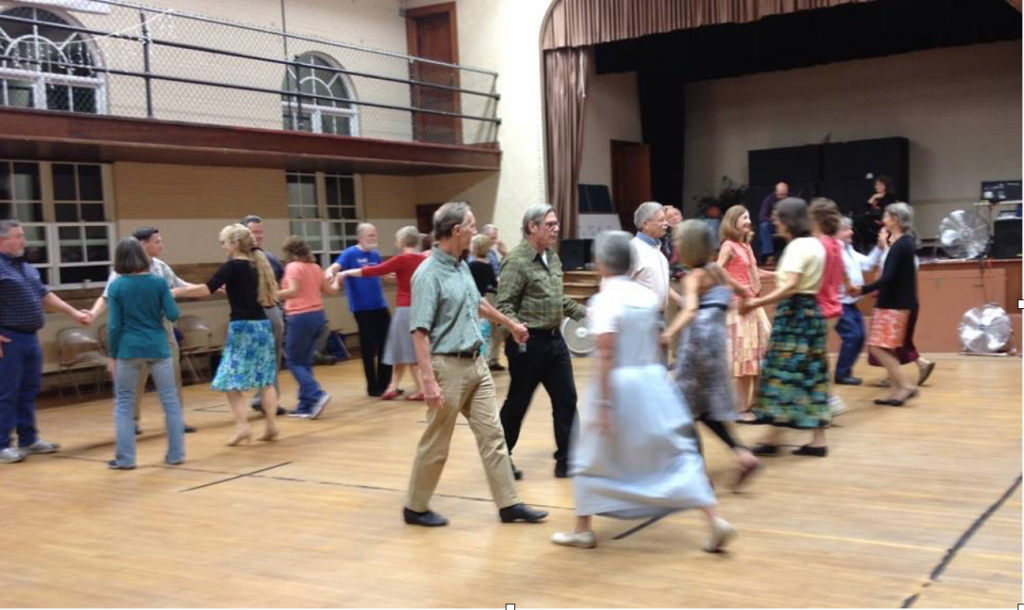 Dance, Manchester! has been holding monthly contra dances right here in Manchester since September. Photo courtesy of Dance, Manchester!
