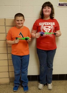 Friday's winners Brandon Blumenauer and Megan Warboy. Photo courtesy of Joanne Kemner.