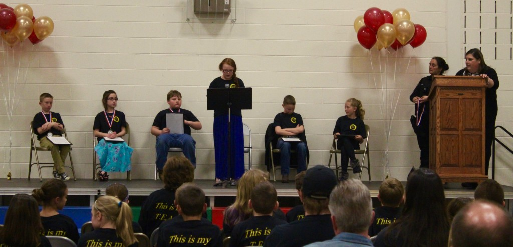 At the T.E.A.M. graduation, six students read their essays about what they had learned in T.E.A.M.