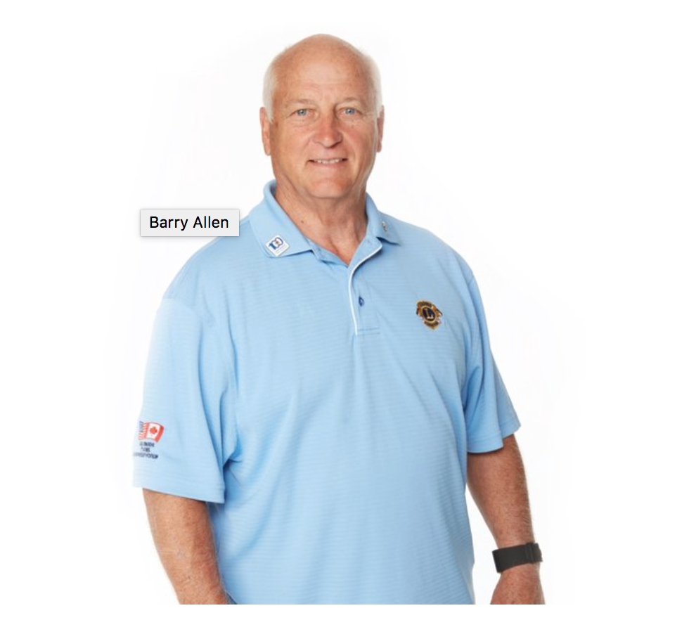 Barry Allen, featured in Lions magazine this month. Photo from feature.