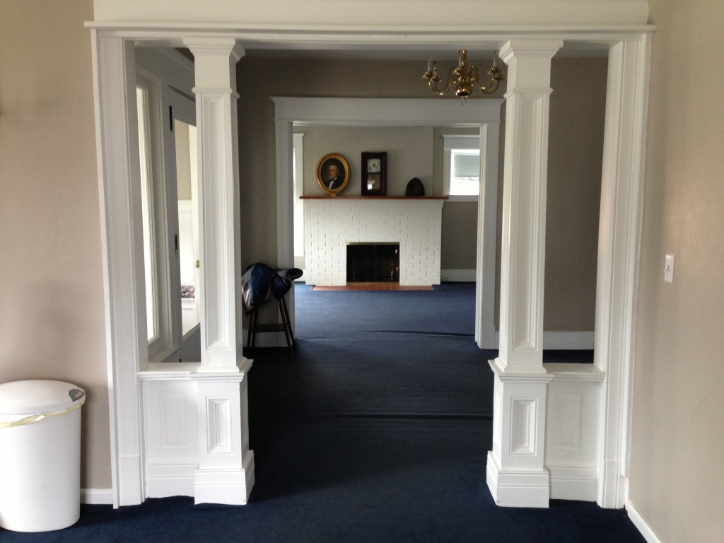 View across the hall into the foyer.