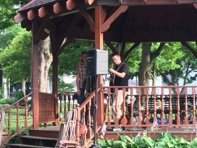 Last week's gazebo concert featured a variety of local music from Brad Phillips and Jacob Warren.