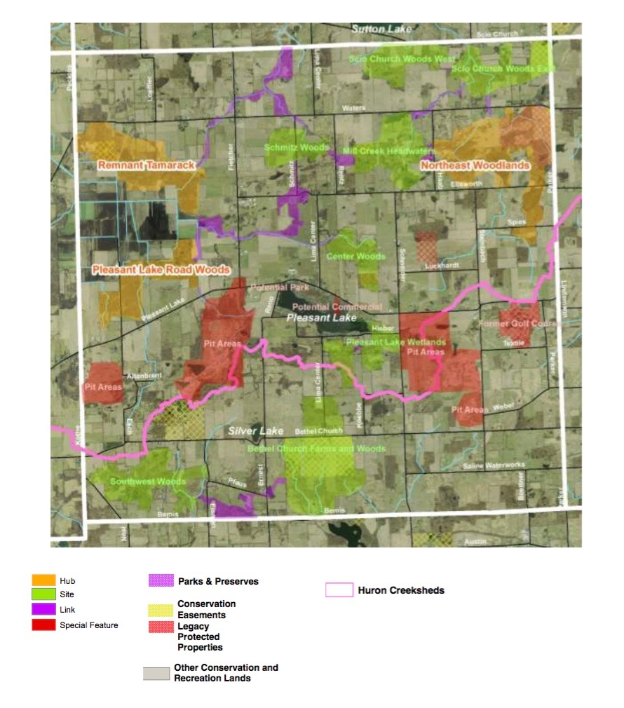 Freedom Township Green Infrastructure map (draft).
