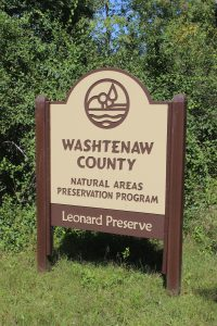 To visit the Leonard Preserve, turn off of Main Street onto Union Street next to Emanuel Church and follow it along the river out of the Village to the parking lot and preserve entrance.