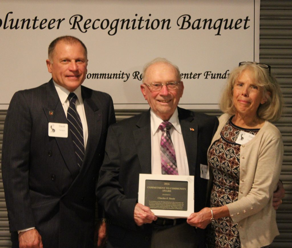 Charles Steele was awarded the Commitment to Community Award. Among other things, he was recognized for raising the flag at home football games for 63 years and has worked at the Chicken Broil since it's 2nd year.