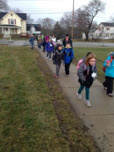 ... And they just kept on coming! What a great day to walk to school!