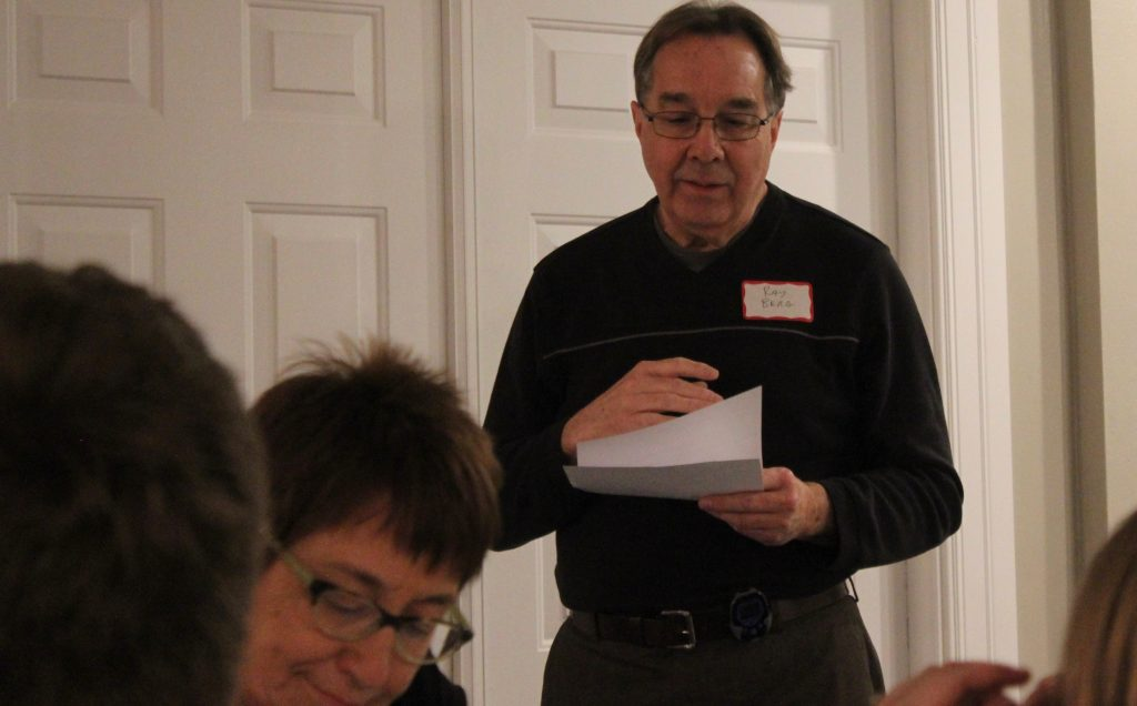 Ray Berg of the Manchester Area Historical Society ran the meeting.