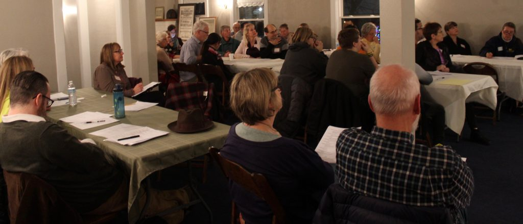 35 people attended the second sesquicentennial planning meeting at the KJ House.